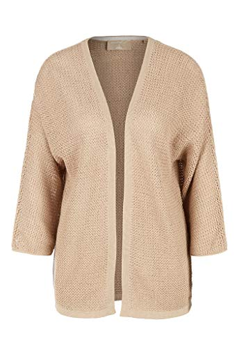 s.Oliver RED LABEL Damen Open Front-Cardigan aus Leinenmix brown M