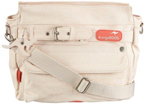 KangaROOS Jean-II Stone Bag (Set) B0289, Damen Shopper, Weiß (Pale), 30x23x12 cm (B x H x T)