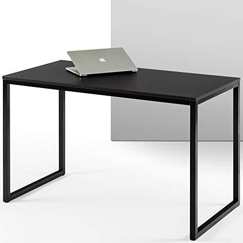 ZINUS Jennifer 47 Inch Black Frame Desk / Computer Workstation / Office Desk / Easy Assembly, Deep Espresso