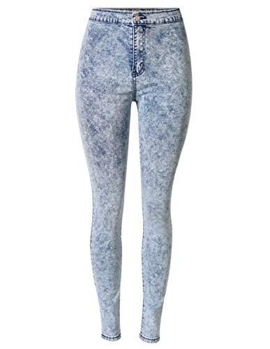 XinXinFeiEr Estiramiento Lápiz Pantalones De Estiramiento Delgados Pantalones Vaqueros Femeninos De Lavado con Agua Tie-Dye Pantalones Pies Era Delgada Casual (Color : Blue, Size : 26)