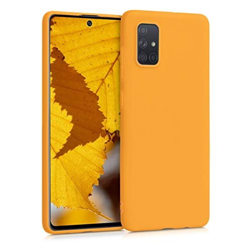 kwmobile Cover compatibile con Samsung Galaxy A71 - Custodia in silicone TPU - Backcover protezione posteriore- giallo zafferano