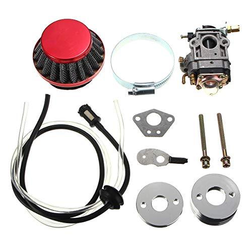 ZHAOH Montaje de carburador Kit de tubería de Combustible de Filtro de Aire de carburador para 43cc 49cc Bicicleta Scooter Carburador