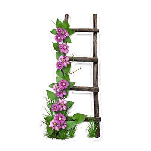 XCWQ Autosticker, 7,3 x 15 cm, interessante wind op houten ladder, decor autosticker, gepersonaliseerd hoogwaardig grafisch A