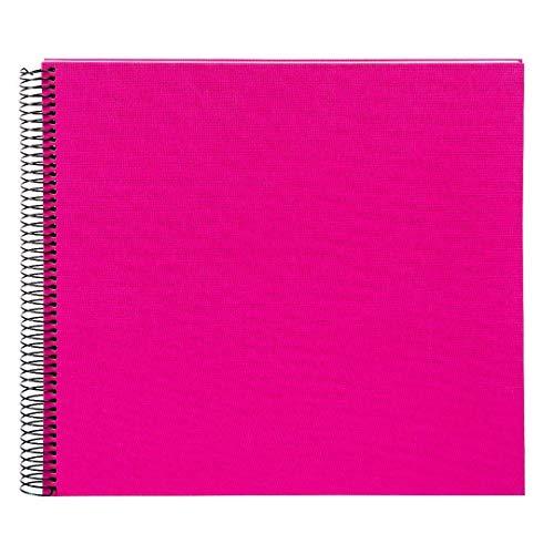 Goldbuch Spiralalbum, Bella Vista, 35 x 30 cm, 40 weiße Seiten, Leinen, Pink, 25364