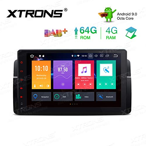 "XTRONS 9"" Android 9.0 Octa Core 4G RAM 64G ROM HD Digital Multi-Touch Screen OBD2 DVR Car Stereo Player Tire Pressure Monitoring WiFi OBD2 NO-DVD for BMW E46 3er M3 Rover75 MG ZT"
