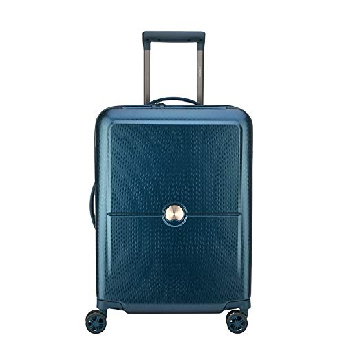 Maleta de Cabina rígida con 8 Ruedas, Turenne Delsey Azul Azul Valise cabine rigide 8 roulettes Turenne Delsey