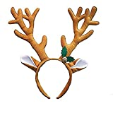 christmas elk reindeer antler headband decoration party hairbands gifts, masquerade hair accessory