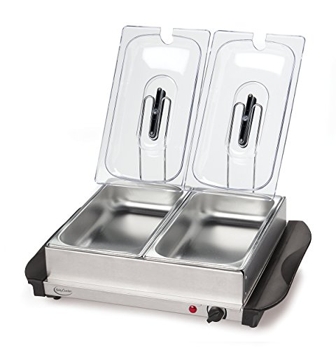 BETTY CROCKER RA39978 Stainless Steel Buffet Server with Warming Tray, Multicolor