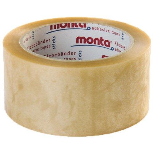 6 Rollen Packband/Klebeband transparent PP, Monta 315, 50 mm x 66 m auf 76mm Kern