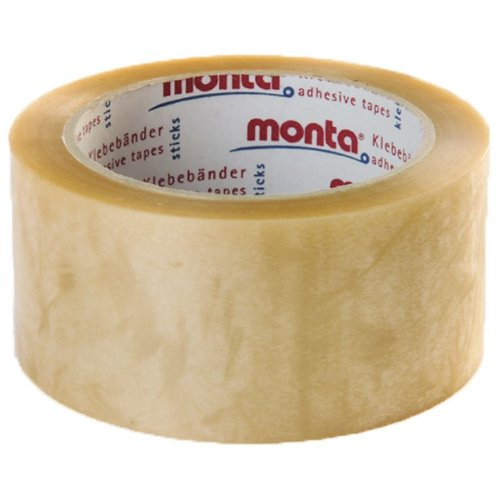 6 Rollen Packband / Klebeband transparent PVC, Monta 283, 50 mm x 66 m auf 76mm Kern