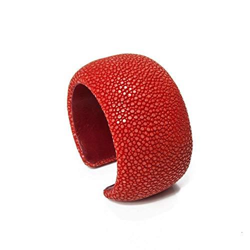 a cuckoo moment Damen Armreif Samba aus Rochenleder 40mm (Coral)