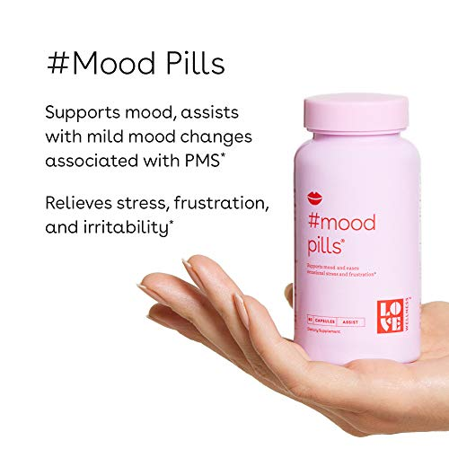 Love Wellness #Mood Pills - Helps Keep Your Mood, Happy & Relaxed - 30-Day Supply - Helps with Stress Relief & Improve Mood – Made with Good-for-You Ingredients - Safe & Effective Daily Supplement