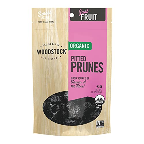 Prunes, Organic, California Pitted 12oz 8/Case from Woodstock Farms
