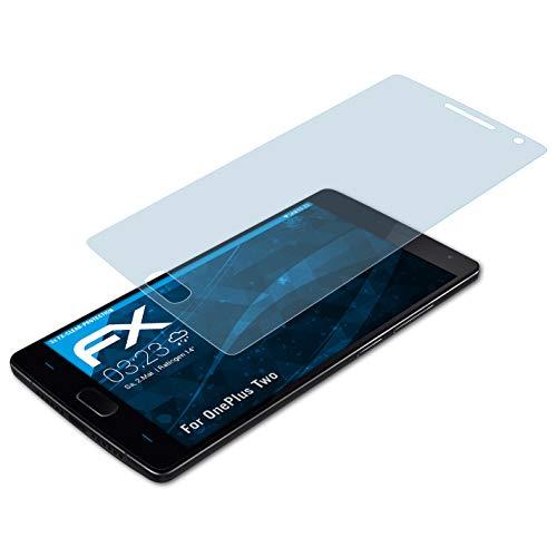 atFolix Schutzfolie kompatibel mit OnePlus Two Folie, ultraklare FX Bildschirmschutzfolie (3X)