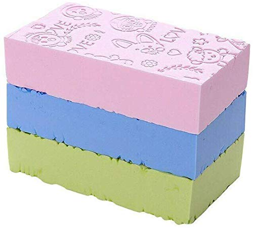 Mintiml 3 x Ultra weicher Peeling-Schwamm, asiatischer Badeschwamm für Dusche, japanischer Spa-Cellulite-Massagegerät, abgestorbene Haut, Schwammentferner für den Körper