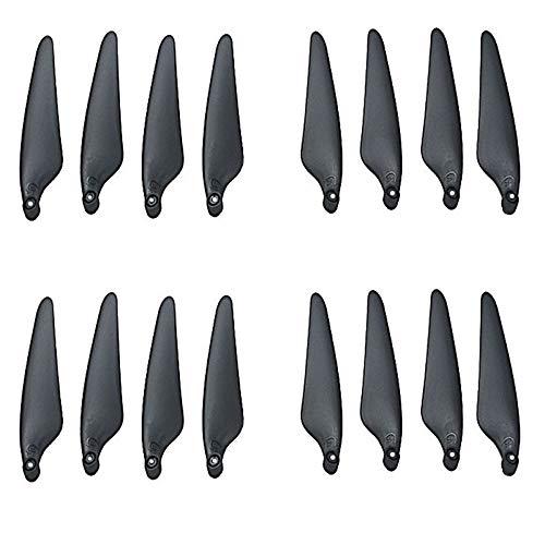 YJDTYM 16 Piezas de hélice/Ajuste para Hubsan Zino Pro Zino 2 H117S Accesorios aeronáuticos de Cuatro Ejes Aéreo Aéreo Remoto Drone CW CCW Pala (Color : Black)