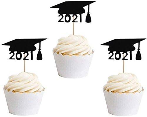Graduation Cap Cupcake Toppers 2021 Graduation Party Congratulations Graduates Graduation Hat Food Picks Graduation Party Decorations