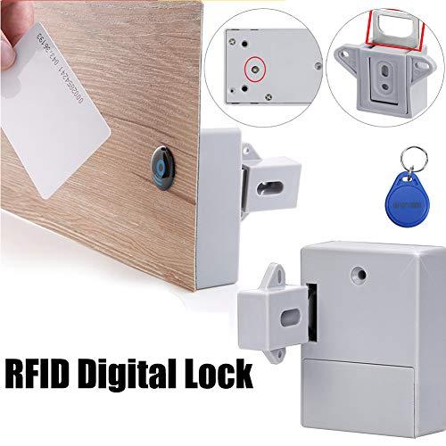 RFID Digitales Schubladenschloss DIY Elektronischer Schrank versteckte Smart Locks unsichtbare Sauna Schuh Lock Sicherheit Smart Kleiderschrank Keyless ohne Lochloch