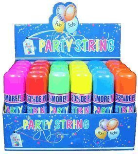Blue Box Party String - not Silly String - 72 Cans by Whoa...Stuff!!