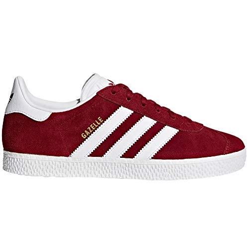 adidas Damen Gazelle Fitnessschuhe, Low-Top, Sneaker Casual. As (Größe 38 EU, Night Red - Cloud White)
