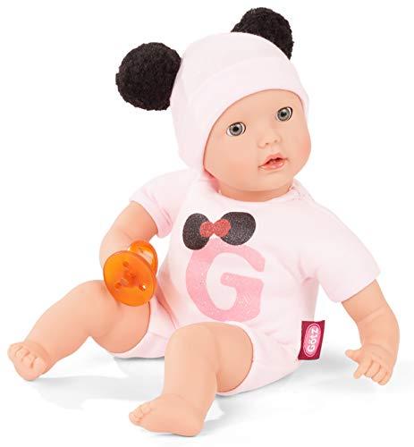 Götz 2020142 Muffin to Dress Puppe Signature Edition - 33 cm große Babypuppe mit blauen Schlafaugen, ohne Haare mit Mütze und Schnuller - Weichkörper-Puppe ab 18 Monaten