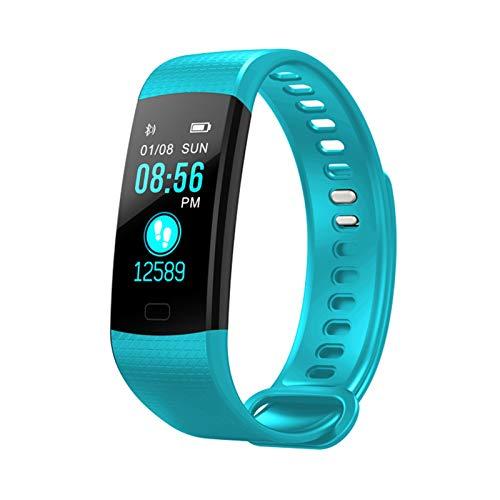 YNLRY Reloj de actividad, podómetro, presión arterial, ritmo cardíaco, podómetro, monitor de actividad inteligente, podómetro, color verde