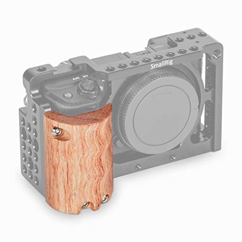 SMALLRIG Wooden Handgrip for Sony Alpha a6000/a6300/a6500 Mirrorless Digital Camera Cage 1889 Cage 1661-1970