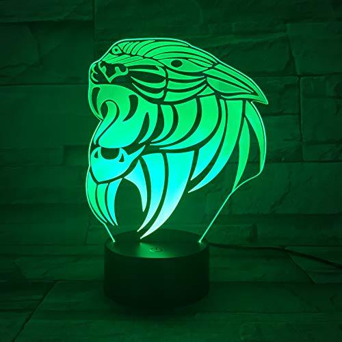jiushixw 3D acryl nachtlampje met afstandsbediening kleur tafellamp serie Slaughter Green Black Print Home Lichtbron Verbazingwekkend beeld datum foto shabby chic tafellamp