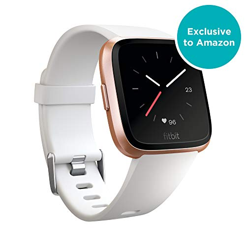 Fitbit Versa - Reloj Deportivo Smartwatch Unisex, Blanco / Aluminio dorado, Talla Única