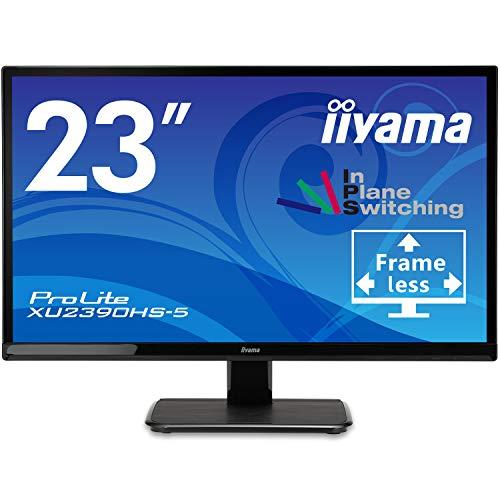 マウスコンピューター iiyama モニター ディスプレイXU2390HS-B5(23型/AH-IPS方式ノングレア非光沢/広視野角/フレームレス/ティルト/1920x1080/HDMI,DVI-D,D-Sub, HDCP機能)