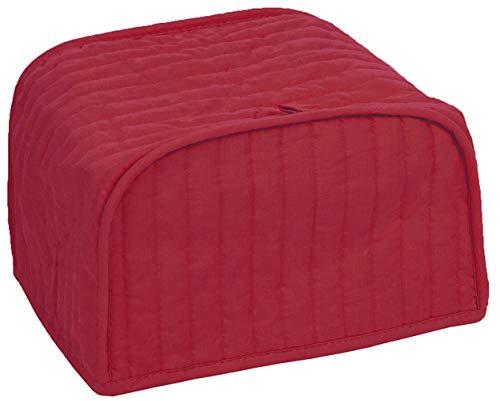 RITZ Toaster-Abdeckung aus Polyester / Baumwolle, gesteppt, für 2 Scheiben, Staub- und Fingerabdruckschutz, maschinenwaschbar, Paprika Rot