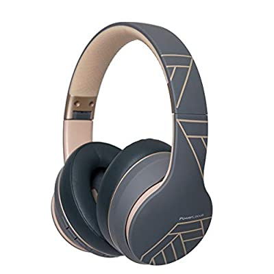 PowerLocus P6 Bluetooth Headphones Over Ear, Wireless Headphones, Super Bass Hi-Fi Stereo Sound, 20Hrs Battery Life,Soft Earmuffs, Headphones with Mic, Voice Assistant for iPhone,Android,Laptops,PC,TV by PowerLocus
