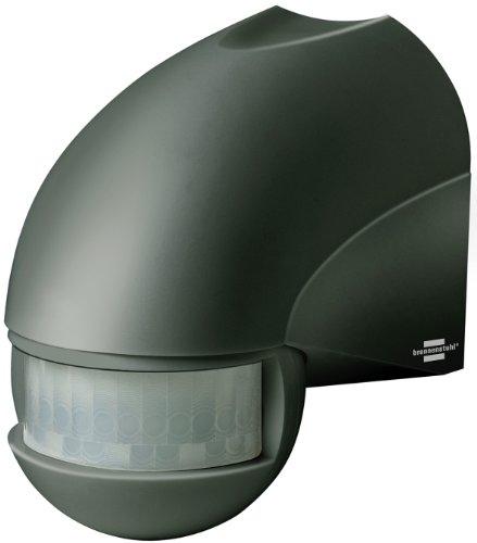 Brennenstuhl Bewegungsmelder Infrarot / Bewegungssensor für Außen und Innen - IP44 (180° Erfassungswinkel und 12m Reichweite) anthrazit