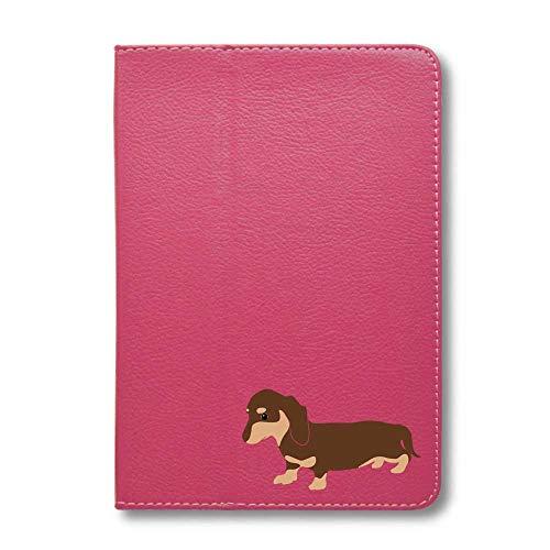ダックスフンド チョコ&タン タブレットケース iPad 手帳型 iPad 2019(10.2) ピンク 犬 柴犬 黒柴 日本犬 ペット 動物 アニマル タブレットカバー タブレット ブック型 iPad7 アイパッド 桃 Fave フェイブ f020140