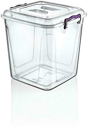 Envase de plástico para alimentos, 40 litros, capacidad para transportar comidas, caja transparente