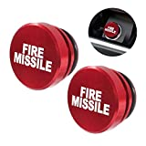 ALAMSCN Aluminum EJECT FIRE MISSILE Button Car Cigarette Lighter Plug Cover Fits Most Automotive Vehicles Boats with Standard 12 Volt Power Source (FIRE MISSILE red 2)