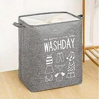 Foldable Hamper Clothes Storage Laundry Basket Organizer Washday