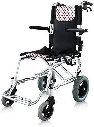 RONGW JKUNYU Rollstühle aus Titan-Aluminium-Legierung, leichter und faltbarer Rahmen, Rollstuhl mit Antrieb für die Mitfahrer, tragbarer Transportstuhl, wiegt nur 8,5 kg