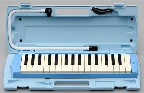 YAMAHA P-32E ブルー 鍵盤ハーモニカ ピアニカ 【10台セット】 【小学校推奨アルト32鍵盤】 【唄口・ホース付】 【ハードケース付】 ヤマハ