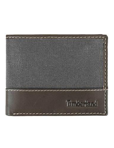 Carteira Masculina Timberland Baseline Slim com bolso flip, Charcoal, Tamanho Único