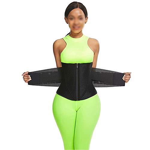ZYQDRZ Women's Corset, Sweat Belt Waist Training Device, Women's Belly Control, Sports Belt for Women's Body Shaping And Weight Loss,Black,XXXL