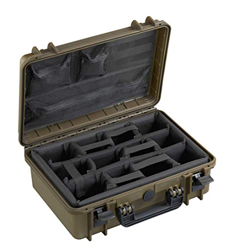 Max MAX430CAMORG, Valigetta Unisex Adulto, Verde, 426 x 290 x H159 mm