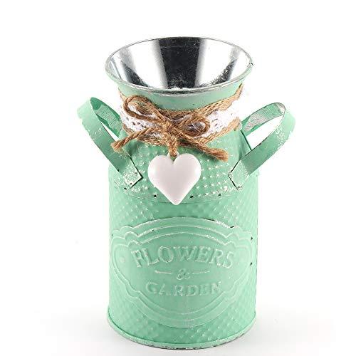 OurLeeme Metall vase Vintage blumentopf Garden Eisen Blume Garten Shabby Blumentopf Vasen Deko Blumen blumentopf für Zuhause