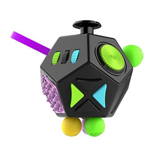 Descompresión cubo Rubik ' s descompresión de artefacto dados Vent regalo juguetes de 12 caras anti-ansiedad , 4