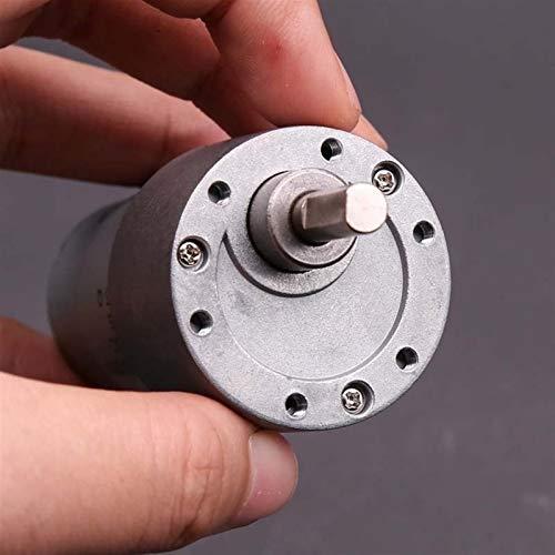caihv-Motor de Corriente Continua Duradero, ZGB37R Motor engranado de Torque Alto, Motor de reducción de Bloqueo Inteligente, DC 5V 6V Reductor de Engranajes Reversible Motor Mute, Accesorios