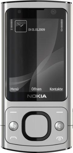Nokia 6700 Slide Handy (UMTS, GPRS, Bluetooth, Kamera mit 5 MP, Musik-Player) raw Aluminium