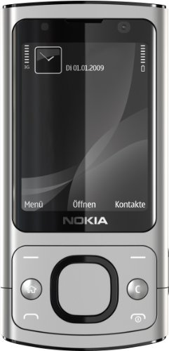 Nokia 6700 Slide Handy (UMTS, GPRS, Bluetooth, Kamera mit 5 MP, Musik-Player) raw Aluminium
