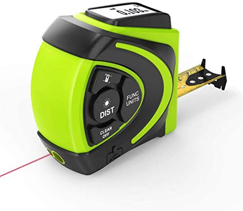 Massband Laser Entfernungsmesser, BeiXun 40m Maßband Laser Messgerät & 5m Massband mit LCD Hintergrundbeleuchtung, 2 Laseröffnungs, Ergonomisches Design mit drehbarem Bildschirm(2021 Modell)