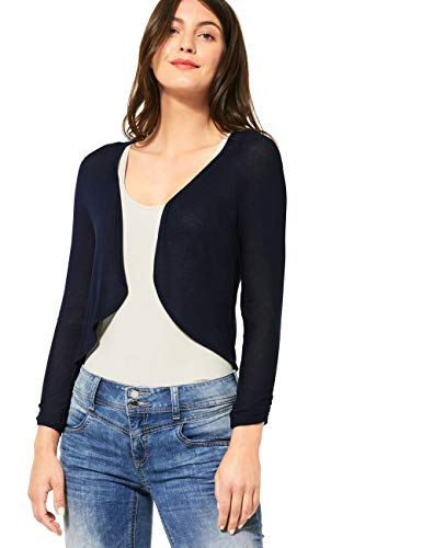 Street One Damen 315025 Suse Bolero Strickjacke, deep Blue, 44