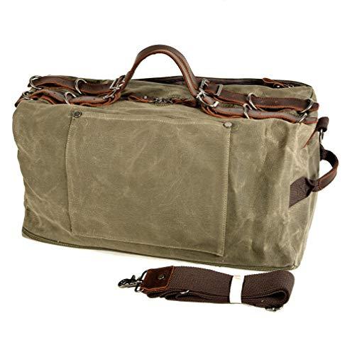 HHH Bolsa de Viaje Vintage de Moda Bolsa de Yoga de Alta Capacidad Bolsa de Gimnasia Impermeable y Duradera para Viaje de Negocios Bolsa de Lona Estilo Militar Travel Bag & Duffel Bag